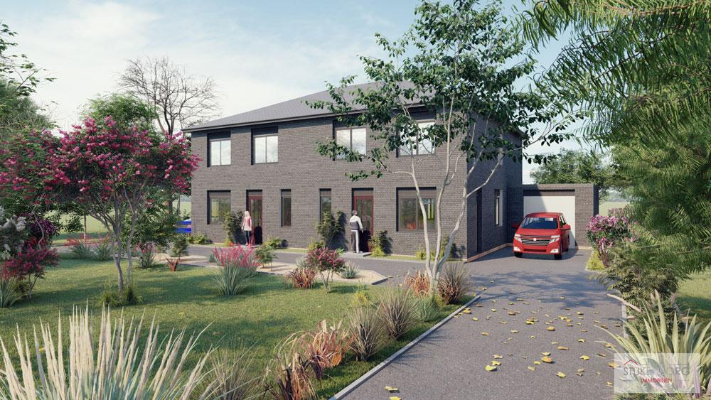 Neubau einer Doppelhaushälfte in attraktiver Wohnlage